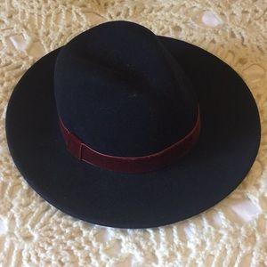 dark blue wool hat